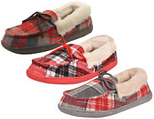 Ladies Faux Fur Lined Soft Warm Moccasin Mules Indoor Loafers Slippers Shoes