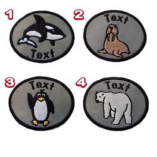 Arctic/Antarctic Animals Personalised Embroidered Patch Sew On/Iron On/Sticker