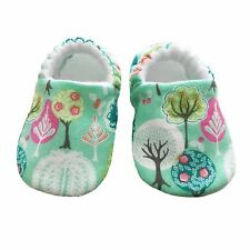 baby pram shoes, soft sole shoes, crib shoes, first walkers, bibs - Green Trees