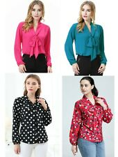 Women's Pussy Bow Neck Shirt / Top/ Blouse Plus Size More Colour