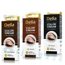 DELIA HENNA - PROFESSIONAL EYEBROW COLOR CREAM ,TINT COLOR SET , EYEBROW TINT