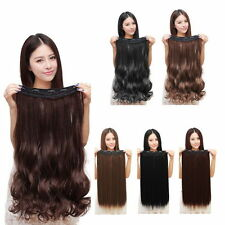 100% Natural 3/4 Full Head Clip In Hair Extensions Curly Wavy Straight Hair YP