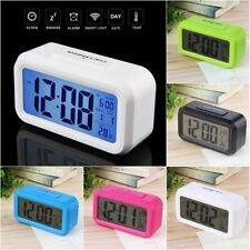 LED Digital Electronic Alarm Clock Backlight Time With Calendar + Thermometer MQ
