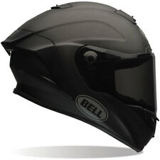 Motorcycle Bell Race Star Solid Helmet - Matt Black UK Seller