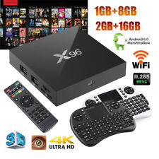 X96 4K*2K Smart TV Box 1GB/2GB+ 8GB/16GB Android 6.0 Quad Core 3D+ Mini Tastiera