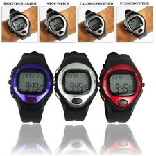 Pulse Heart Rate Monitor Calories Counter Fitness Watch Time StopWatch Alarm YG