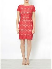 RED BERRY CANDICE LACE DRESS BY DARLING WAS £75 NEW SIZE XS,S,M