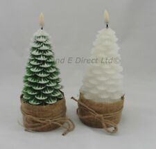 Christmas Decoration Christmas Tree LED Candle Green or Snowy Tree NEW