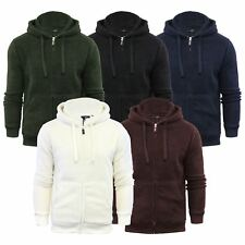 Mens Hoodie Brave Soul Shaun Sherpa Fleece Zip Up Hooded Sweater