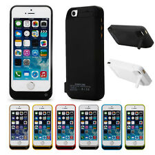 External Backup Battery Charger Case Power Pack Cover charging F. iPhone 5 5S 5C