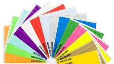 "500 3/4"" Tyvek Paper Wristbands Plain, Custom Print, Personalised, Event"
