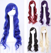 Women 80cm Long Curly Wavy Hair Wig Fashion Costume Party Anime Cosplay Sales