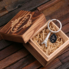 Personalised Eiffel Tower Keychain Keyring Engraved Customised Romantic Gift