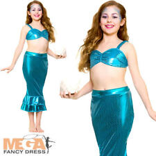 Magical Mermaid Girls Fancy Dress Fairytale Sea Myth Book Day Kids Child Costume