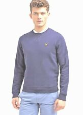 Lyle And Scott Men's Crew Neck Long Sleeve Navy Jumper
