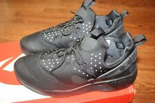 MEN'S NIKE AIR HUARACHE UTILITY BLACK TRAIL SHOES SNEAKERS STYLE 806807 004 NEW