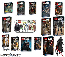 Lego Star Wars Buildable Figures- Kylo Ren/Finn/Rey & MORE -Brand New & Boxed