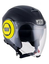 Casco Agv Fluid Mono Matt Black Yellow
