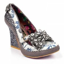 donna Irregular Choice Soap + Suds paillettes incastonato ARGENTO TACCO ALTO