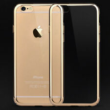"""Hot Buckle Metal Bumper Frame Clear Back Case Cover for iPhone 6S Plus 5.5"""""""