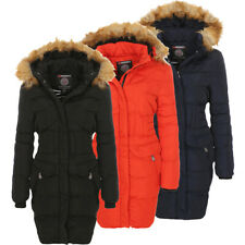 Geographical Norway giacca invernale Donna Cappotto lungo foderato ESKIMO
