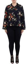 New Ladies Long Sleeve All Over Floral Print Buttoned Shirt Blouse Top 16-22
