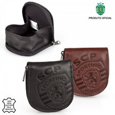 Sporting Clube De Portugal Genuine Leather Official Horseshoe Coin Tray Wallet