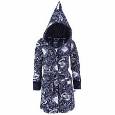 Ladies Navy Blue, THE MARAUDER'S MAP Hooded Dressing Gown HOGWARTS HARRY POTTER