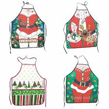 Christmas Unisex Apron Kitchen Bar Home Adult Kids Cooking Party Funny Xmas Gift