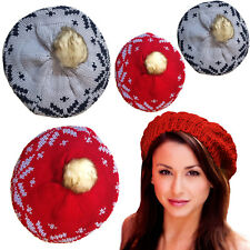 New Women Lady Winter Warm Knitted Crochet Slouch Baggy Beret Beanie Hat Cap