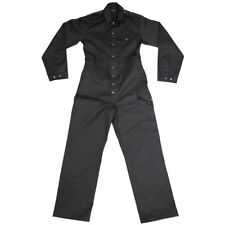 British Army Surplus Black One Piece Overall Coverall Work Boiler Tank Suit USED