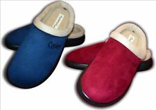 Ladies Girls New Coolers Mule Clog Slippers Burgundy Navy Size 4 - 8 (37-41)