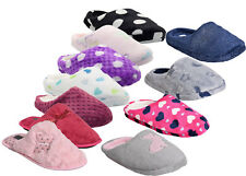 New Ladies Women Winter Slippers Fur lined Soft Warm Comfort Slip on Mules Shoes