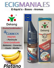eliquid Dekang Europe 10ml. Platano / Banana 0,6,12mg e liquid envío PAQ72H