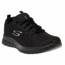 New Womens Skechers Black Graceful Get Connected Nylon Trainers Running Style