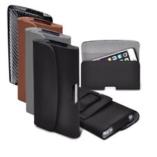 Horizontal Faux Leather Belt Holster Case Cover for Blackview Phone Models