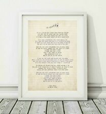 416 Elton John - Your Song (v.3) - Song Lyric Art Poster Print - Sizes A4 A3