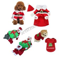 Pet Dog Puppy Outfits Fancy Dress Hoody Coat Jumper Clothes Xmas Gift Costume