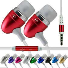 Aluminium In-Ear Earbud Stereo Handsfree Earphone for Alcatel A30 Fierce
