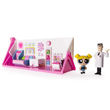 Powerpuff Girls Flip To Action Playset, Bubbles Doll w Bedroom / Lab, For Girls