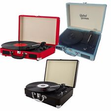 Portable Briefcase Record Player Suitcase Vinyl Turntable Bluetooth 3W Speakers