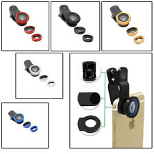 Smart Phone 3 in 1 Clip-on Lens Micro & Wide Angle & 180°Fisheye Camera Kits
