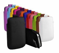 """Asus Zenfone Go ZB452KG (4.5"""") Protective Faux Leather Pull Tab Pouch Case Cover"""