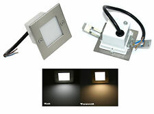 1 - 20erTreppen / Luz pared Ray 230V LED 1,5W = 15W acero inox. pulido IP54