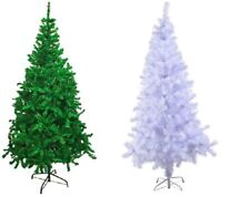 GREEN WHITE Traditional Indoor Artificial Christmas Xmas Tree 4,5,6,7,8FT