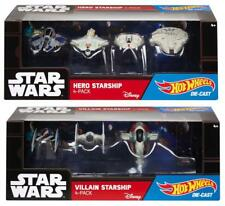 Hot Wheels Star Wars- Hero/Villain Starship Die Cast 4 pack vehicle set - NEW