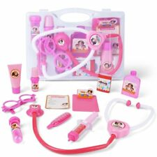Dr  Kit Pretend and Play Medical Toys Set with Carry Case for Kids 10pcs Pink