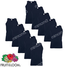 10 CANOTTE BLU CANOTTIERE UOMO FRUIT OF THE LOOM  VALUEWEIGHT  taglie s-xxl