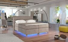 Letto Sommier AMADEO in Beige LED 160/180 Letto Hotel LETTO DOPPIO MOLLE ep737