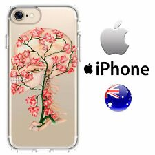 Silicone iPhone Case Cover Abstract Colour Skull Cherry Blossom Girly Punk Edgy